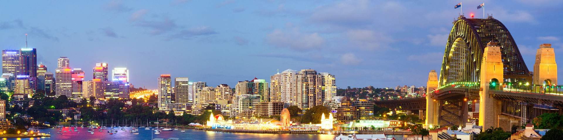 North Sydney panorama early evening